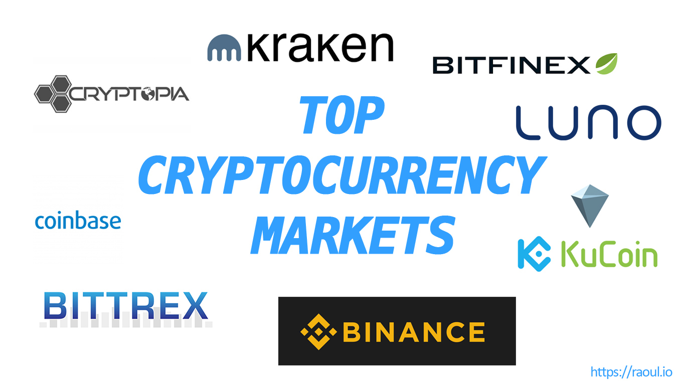 Top cryptocurrency markets