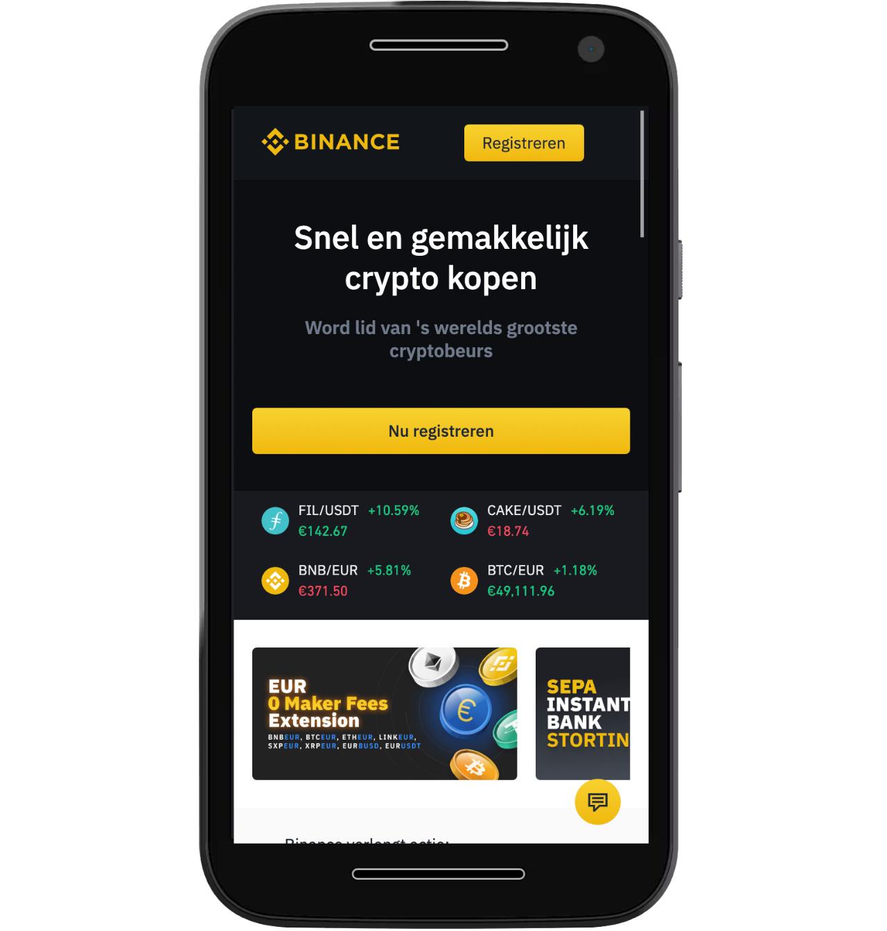 Binance exchange op mobile